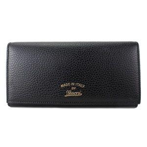 Gucci Women's Black Continental Flap Wallet 354498